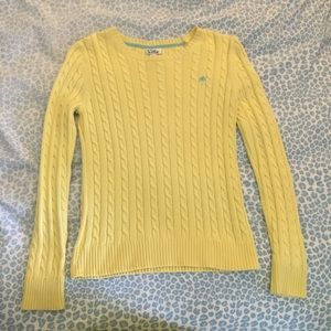 Lilly Pulitzer Yellow Cable Knit long sleeve